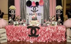 Chanel Inspired Sweet Sixteen | CatchMyParty.com