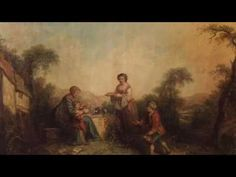 Beautiful pair of French paintings of the 20th century - YouTube