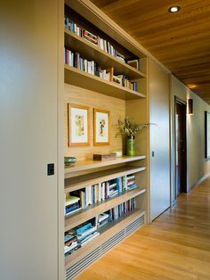 Entry Shelves, Modern Hall, San Francisco - I like the idea of built in shelves