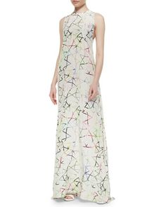 Regi+Aquarella-Print+Maxi+Dress,+Multicolor+by+Alexis+at+Neiman+Marcus.