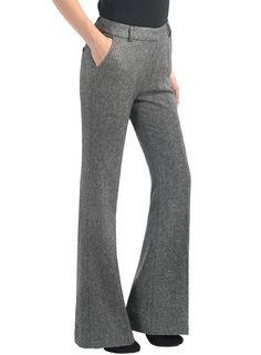 Elimena Mid Rise Bell Bottom Wool Trousers, $239.00