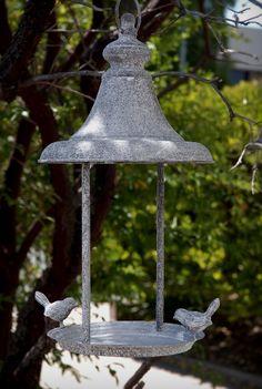 Hanging Bird Feeder Candleholder