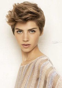 The best collection of Short Funky Hairstyles, latest and best short hairstyles, short haircuts, short funky haircuts Funky Pixie Cut, Brown Pixie Cut, Funky Short Hair, Short Hair Cuts For Women, Pixie Cuts, Messy Pixie, Short Blonde, Short Wavy, Short Punk Hair
