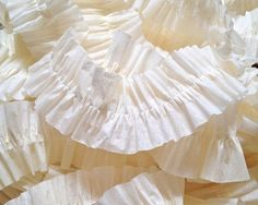 Ivory Ruffled Streamers, 36 ft.