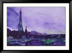Paris art - Signed Print -impressionist- x inches -Eiffel Tower -Paris Chic - Colourful abstract print Colorful Artwork, Artwork Prints, Paris Chic, Paris Art, Sign Printing, Abstract Print, Impressionist, Tower, Handmade Gifts