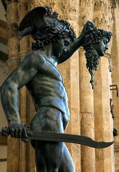 Perseus with the Head of Medusa, Piazza della Signoria in Florence , Italy