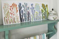 plant postcards by Rita Fürstenau