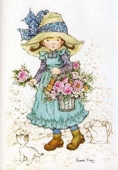 Soloillustratori: Holly Hobbie- Sarah Key e Sambonnet Sarah Key, Holly Hobbie, Mary May, Australian Artists, Cute Little Girls, Illustrations, Cute Illustration, Vintage Pictures, Vintage Cards