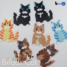 Cats perler beads by 48neko