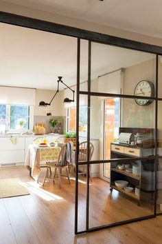 Feng Shui - Apartment Entrance and Mapping Your Life - Feng Shui Home Designs Feng Shui Apartment, Steel Doors And Windows, Apartment Entrance, Glass Room Divider, Interior Decorating, Interior Design, Home Office Design, Sweet Home, New Homes