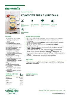 thermomix - Kokosowa zupa z kurczaka