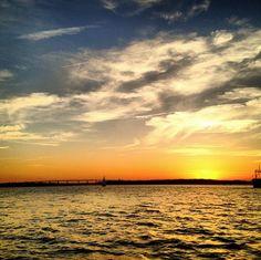 Sunrise over the #Charleston harbor