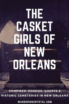 New Orleans has a spooky and dark history. Read about how vampires came to New Orleans - The Casket Girls. Plus history on Voodoo, Ghosts and Historic Cemeteries in NOLA! New Orleans Vacation, New Orleans Travel, Louisiana Usa, New Orleans Louisiana, Us Travel Destinations, New Orleans Voodoo, Ghost Tour, All I Ever Wanted, Haunted Places