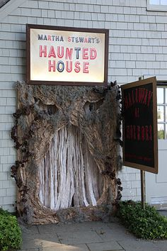 haunted house entrance.