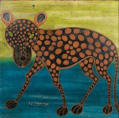 Edward Saidi Tingatinga - Spotted Hyena