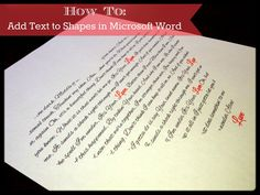 : Add Text to Shapes in Microsoft Word Tutorial