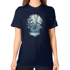 Dark Forest Skull Unisex T-Shirt (on woman)