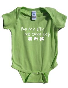 Fun St Patty's day Onesie for Baby, St Patricks day clothing, St Patricks day for kids, green, good luck
