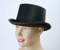 Top Hat Black Satin Fancy Dress Hats, Fancy Dress Outfits, Satin Top, Black Satin, Black Top Hat, Funny Hats, Thomas The Tank, Black Ribbon, Costume Accessories
