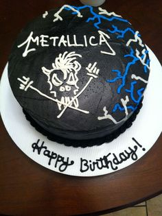 Decorated Cakes Bay Area Heavy Metal Favorite Recipes Cake Decorating Ideas Metallica Pies Hobbies