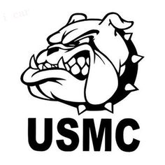 United States Marine Corps (USMC) Funny Bulldog Indoor/Outdoor Vinyl Decal Stickers /