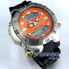 4fb8a6c940d JP1060-01Y Relógio Citizen Aqualand II Profundìmetro Relogio Citzen