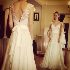Wedding dress by Ourania Kay