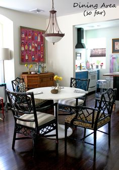 """Photo journal of """"Cottage Update: Dining Room So Far"""" by blogger Naomi for Naomi's design inspiration journal."""