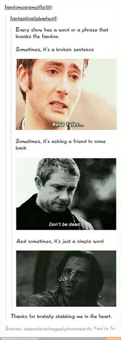 I sometimes wonder why we love Superwholock so much when it stabs us in the heart so often.>>> Maybe it's for that exact reason.
