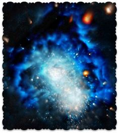 Somewhere Deep Within The Universe....(Edited on Pic Monkey, and Picture from the Hubble Space Telescope Gallery of Universes)