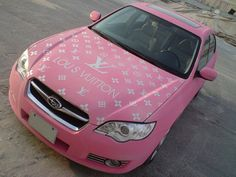 louis vuitton pink car - there is something obscene about this that makes me giggle and it is my color too!