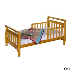 <li>Introduce your child to her own big girl's bed with this toddler sleigh bed</li><li>Proper first transition from the crib before moving to a twin or full size bed</li><li>Toddler's sleigh bed is a great piece of kids' furniture</li>