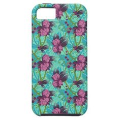 #Pink Wild #Flowers #Mosaic #iPhone 5 Case