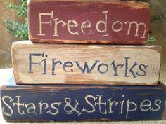Primitive Americana Freedom Fireworks Stars & by DoughAndSplinters, $15.99