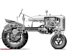 Cutaway view of the Farmall A.