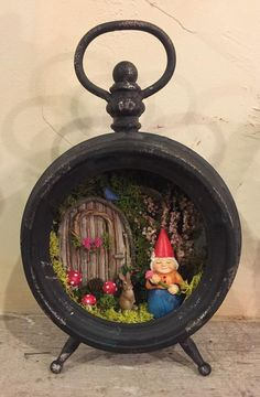 Clock Craft, Gnome House, Light Images, Doll Quilt, Fairy Doors, Gnome Garden, Flowering Trees, Christmas Love, Fairy Houses