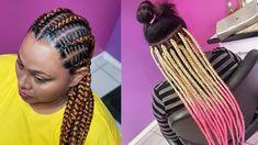 Cute Hair Braiding Compilation 2020 : New Braids Hairstyles Tutorials Yo... African Braids Hairstyles Pictures, New Braided Hairstyles, African Braids Styles, Braided Hairstyles Tutorials, Cute Hairstyles, Ghana Weaving, Braids Cornrows, Braids For Kids, Fashion Pictures