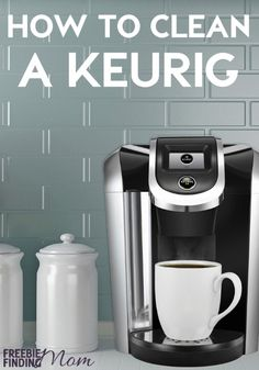 If you rely on that cup of coffee to get your morning going, be sure you keep your Keurig operating at its optimal best by knowing how to clean a Keurig. Here youll find out how easy it is to clean and how to descale a Keurig. If the word descale is fr Deep Cleaning Tips, House Cleaning Tips, Diy Cleaning Products, Cleaning Solutions, Spring Cleaning, Cleaning Hacks, Weekly Cleaning, Cleaning Schedules, Keurig Cleaning