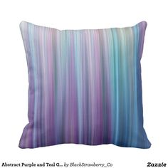 Abstract Purple and Teal Gradient Stripes Pattern