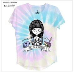 Dark Alice in Wonderland Rainbow T-Shirt by Crab Scrambly