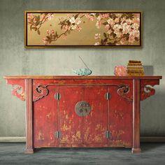 [摆设 新中式家具]仿古2屉2门卷云餐边柜实木卧室柜中式储物柜-淘宝网