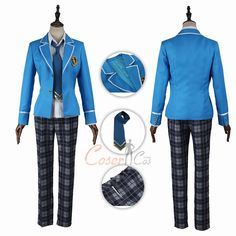 Yumenosaki Private Academy Male Uniform Costume Ensemble Stars Cosplay For Male Music Courses, Star Character, Game Costumes, Cosplay Dress, Womens Size Chart, Ensemble Stars, Thighs, Swimsuits, Academia
