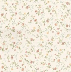 Sophie+Toss+(68880)+-+Albany+Wallpapers+-+A+pretty+mini+print+floral+design+-+showing+in+coral+on+a+off+white+background.+More+colours+are+available.+Please+request+a+sample+for+true+colour+match.+