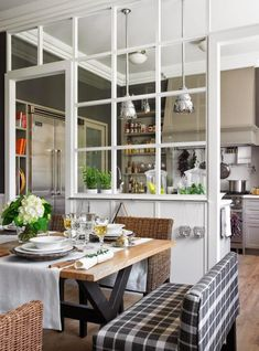 No Foyer Entry-We Enter Straight Into The Living Room Kitchen Canopy, Living Room Kitchen, Living Rooms, Glass Kitchen, Kitchen Decor, Kitchen Interior, Kitchen Ideas, Kitchen Taps, Rustic Kitchen