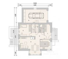 Modern two-storey residence designed by Randy Bens located in West Vancouver, Canada. Ceramic Roof Tiles, Gas Boiler, Balcony Doors, Interior Walls, Ground Floor, Home Projects, Building A House, House Plans, Floor Plans