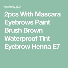 2pcs With Mascara Eyebrows Paint Brush Brown Waterproof Tint Eyebrow Henna E7