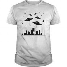 Awesome Tee UFO Invasion Shirts & Tees