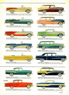 1956 Cars Page 5 by aldenjewell Brought to you by House of Insurance Eugene, Oregon where you can afford classic car insurance.