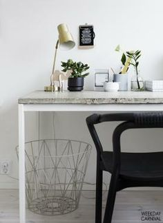 Stylizimo - Design Voice - Blogs - Design Classics - Great idea, covering an Ikea table with concrete/marble, partial to concrete but not really sure this is it -