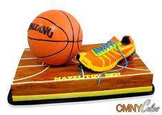 Basketball Sneaker Court Cake